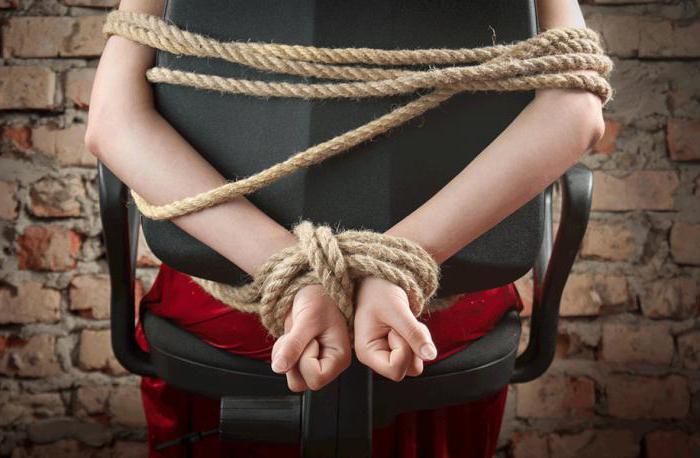 Похищение человека и вымогательство