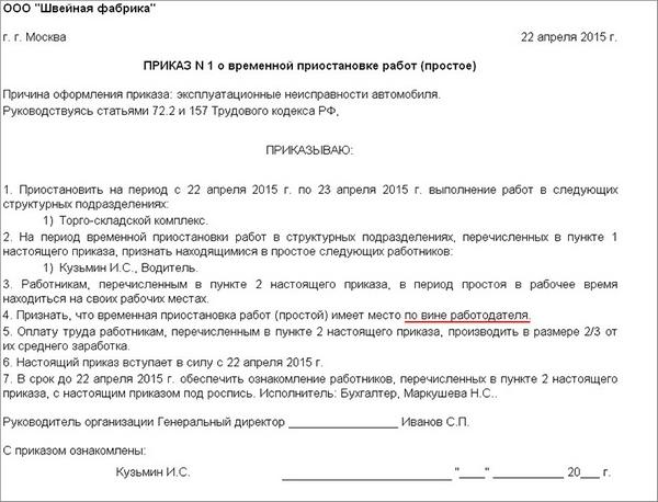 Вынужденный прогул по вине работодателя  ТК РФ