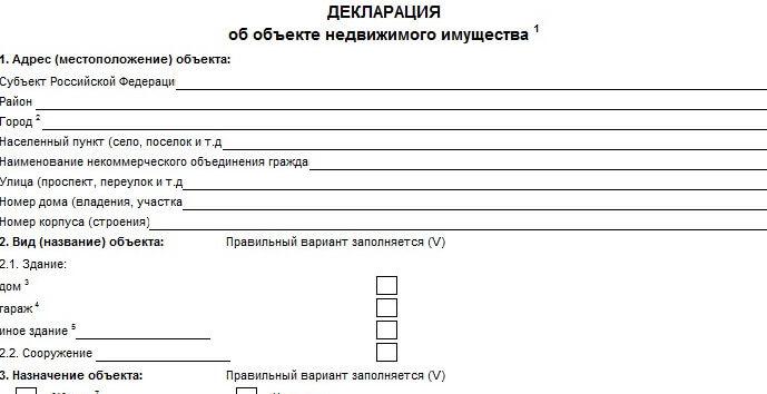декларация на недвижимость по дачной амнистии